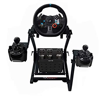 GT Omega Racing Wheel Stand PRO for Logitech G923 G29 G920 with Shifter Mounts V1 & V2 Thrustmaster T500 T300 TX & TH8A - PS4 Xbox Fanatec - Tilt-Adjustable to Ultimate Gaming Console Experience