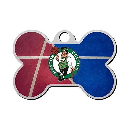 GPZHM Boston - Celtics Pet Tag - Bone Shaped Dog Tag & Cat Tags Pet ID Tag Personalized Custom Your Pet's Name & Number 3D Printing