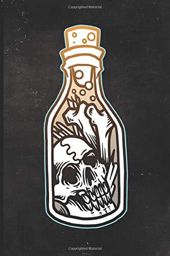 Journal: Bones in a Bottle Tattoo Design Dot Grid Tattoo Flash Sketching Journal