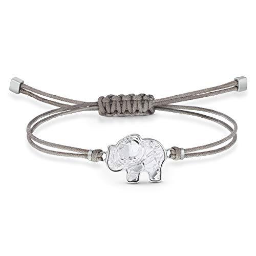 Swarovski Braccialetto Power Collection Elephant, Grigio, Acciaio Inossidabile