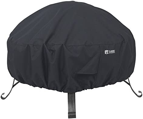 Best Classic Accessories Water-Resistant 30 Inch Round Fire Pit Cover