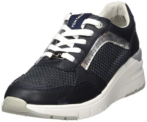 TOM TAILOR Damen 8094203 Sneaker, Blau (Navy 00003), 39 EU