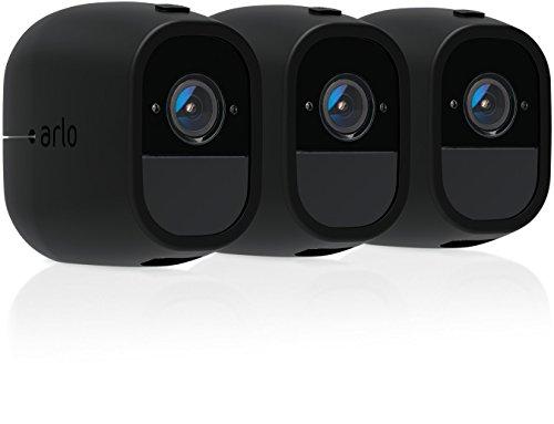 Arlo zertifiertes Zubehör | Arlo Pro 2 Silikonbezüge Schirmblende (3 Stück) schwarz, geeignet für Arlo Pro kabellose Überwachungskamera, VMA4200C