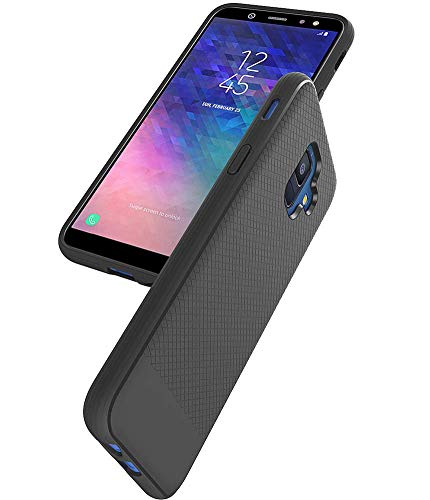 Asmart Galaxy A6 Case, Samsung Galaxy A6 Case, Resilient Shock Absorption Galaxy A6 Phone Case Slim TPU Bumper Cover Flexible Protective Phone Case for Samsung Galaxy A6 2018 (Black)