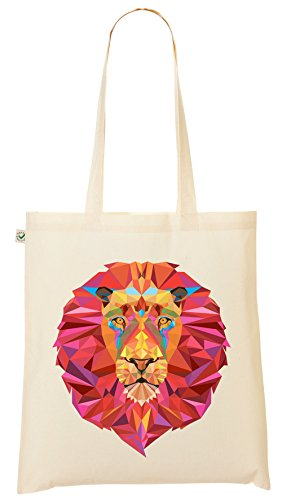 Shopper Bag – Leone – Commercio Equo E Solidale – sacchetto di iuta – My-tagshirt