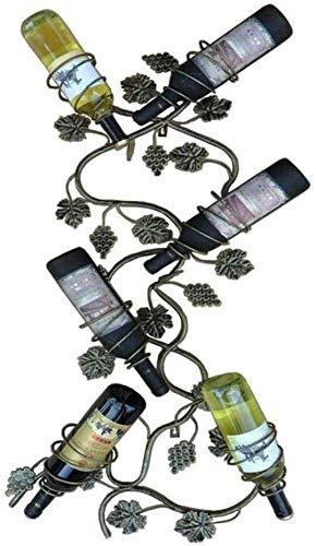 HJXSXHZ366 Estantería de Vino Bastidores de Vino, Estante de la Botella 6 Metal, Hierro Colgando Boca Abajo portavasos, Blanco Estante de Vino pequeño (Color : Bronze)