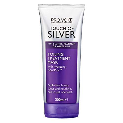 PRO:VOKE Touch of Silver Toning Treatment Mask 200ml | Purple Conditioner for Blonde, Platinum,...