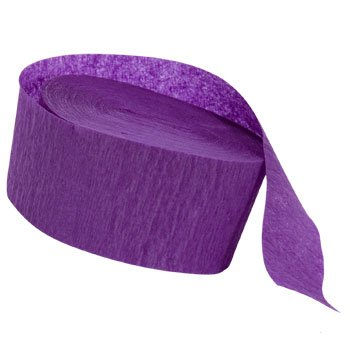 Greenbrier 4 ROLLS, PURPLE Crepe Paper Streamers 280 ft Total - Made in USA!
