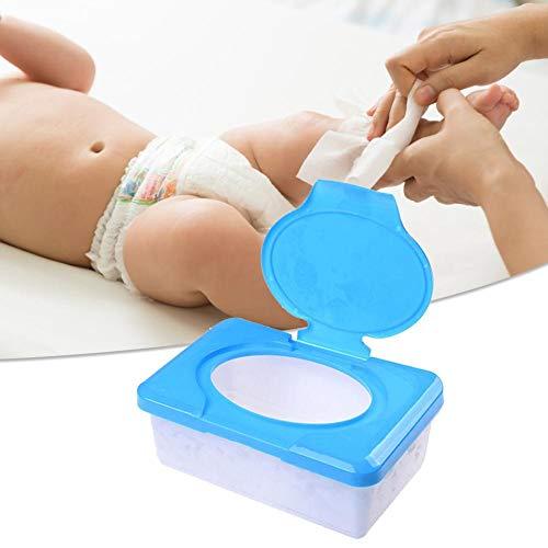 Reisebehälter für Feuchttücher, wiederauffüllbarer Spender für Babytücher, Tragbare Baby Feuchttuch Box (keine Tücher in ihm)