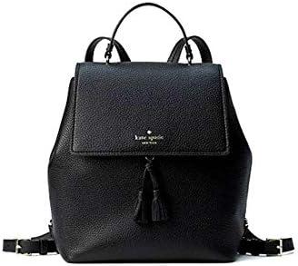 Kate Spade Hayes Medium Leather Backpack Black Warm product image