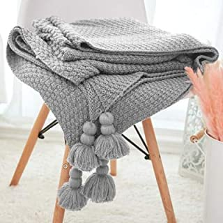 Linker Wish Christmas Throw Blanket 100% Cotton Handmade Sofa Bed Knitted Throw Blanket 130170cm Bedding Quilt Travel Plane Plaids Bedspread
