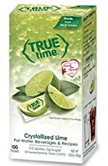 TRUE LIME WATER ENHANCER: Add a packet to your water, other beverages or recipes to enjoy the taste of authentic, fresh-squeezed limes without the seeds, mess or waste CONVENIENT WATER FLAVORING PACKETS: Contains 100, 0.8 gram water flavor packets—ea...