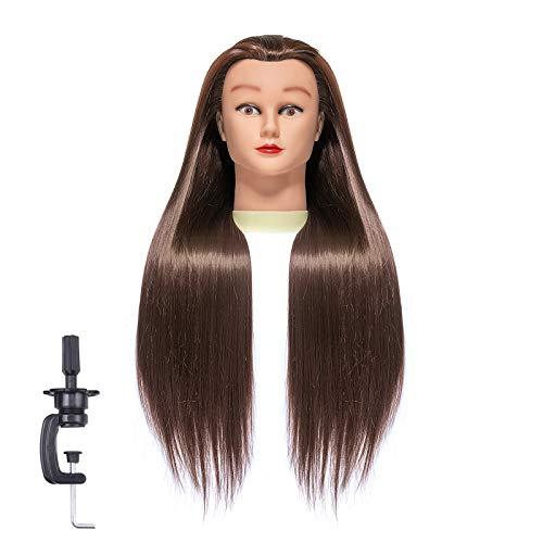 TEMAN Mannequin Head Synthetic Fibe…