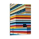 Paisaje Colorido Hotel Berlín Póster Pintura Decorativa Lienzo Arte de la Pared de la Sala de estar Carteles Dormitorio Pintura 50x75cm