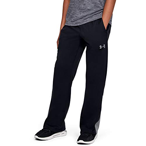 Under Armour Boys' Brawler 2.0 Training Pants , Black (001)/Steel , Youth Large