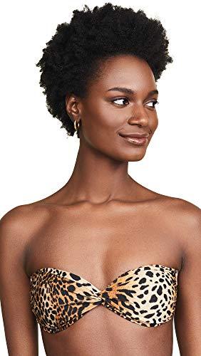 Melissa Odabash Women's Lyon Bikini Top, Cheetah, Tan, Print, 46