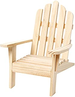 Darice 9132-66 Unfinished Wood Chair, 4.5 by 6-Inch