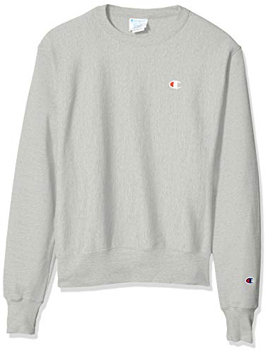 Champion LIFE Men's Reverse Weave Sweatshirt, Oxford Gray, Small