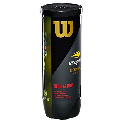 Wilson US Open Regular Duty Tennis Balls - 3 Ball Can (6 Cans = 1/4 Case)