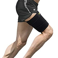 Oberschenkelbandage Muskelfaserriss, Oberschenkel Bandage Kompression mit Klettverschluss Neopren Verstellbar Kompressions-Ärmel für Oberschenkel und Ischiasnerven Schmerzlinderung, Rehabilitation