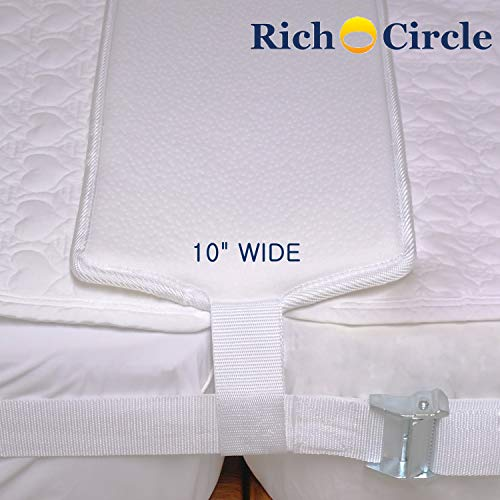 richcircle Bed Bridge Twin to King Converter Kit - Bed Gap Fill to Make Twin Beds Into a Larger Bed - Adjustable Connector Strap and Memory Foam Gap Filler Pad-for Family and Guest Room