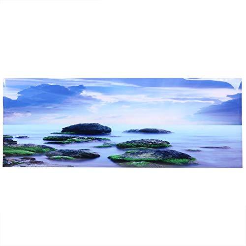 PVC Aquarium Achtergrond, Mooie Zelfklevende Sea Sky Woods Poster Stickers voor Aquariumdecoratie (91 * 50cm)