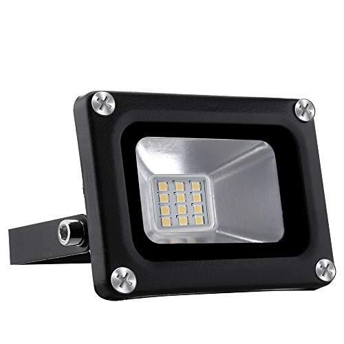 10W Warmweiß LED Strahler, 1000LM Superhell 220V LED Fluter Flutlicht Außenstrahler, IP65 Wasserfest 3000K Tageslichtweiß, Ideale Wandleuchte Auße