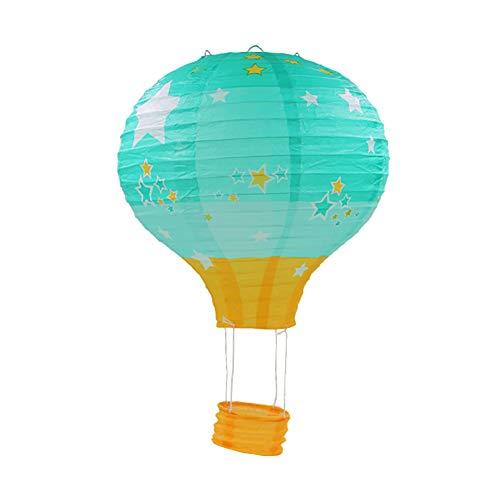 Gespout Decoración de Globo Aerostático Linternas de Papel Centro Comercial Celebración Supermercado Actividad Ventana Decoración Adornos de Techo