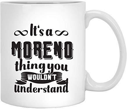 Queen54ferna Moreno naam grappige geschenken - het is een Moreno ding je zou niet begrijpen koffie mokken nieuwigheid wit keramiek 11 Oz thee mok