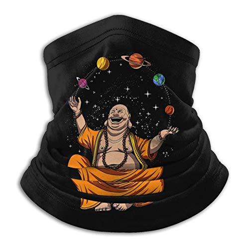 Zen Yoga Buddha Juggling Space Planets Meditation Unisex Seamless Bandanas Face Mask Neck Gaiter Headband Scarf Black