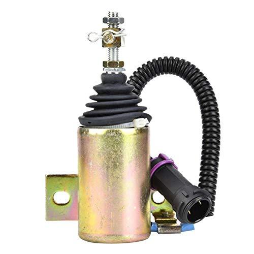 Ivaank Solenoide de Apagado de Combustible, válvula solenoide de Parada de Apagado de Combustible de 12 V XHF-1121 E483310000093 Apto para Foton 483 Diesel