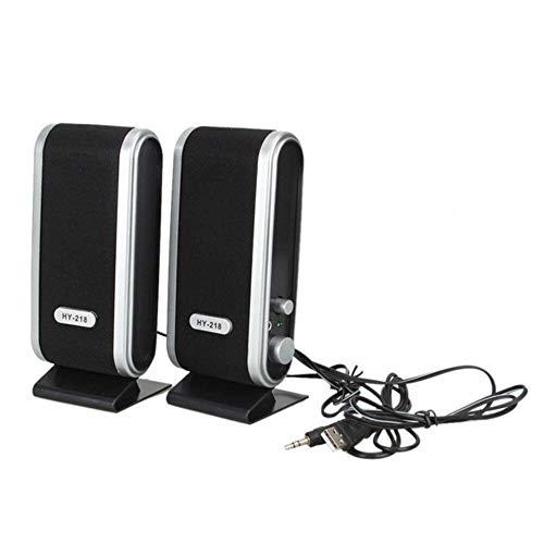#N/V 2 altavoces estéreo de 3,5 mm con conector de oreja para ordenador de sobremesa, PC, portátil, reproductor de música estéreo