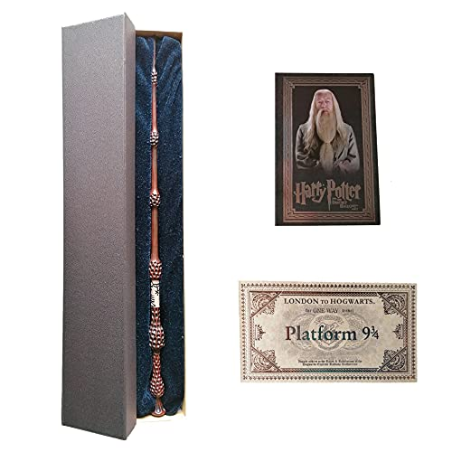 GPRODOTTI Baguette magique de Sambuco d'Albus Silent Dumbledore de collection avec carte et carte pour le train 9 3/4 Harry Potter