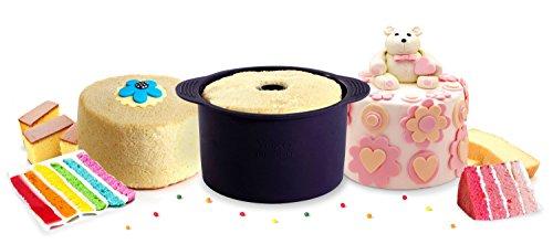 YOKO DESIGN 1259 Moule à Angel Cake, Silicone, Violet Foncé, 19 cm