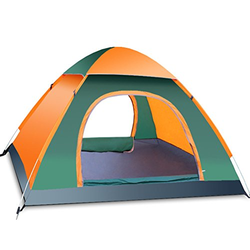 TINKSKY 3-4 Person Beach Sun Shelter Camping Tent: Fast and Automatic for Best Family Camping, Fishing, Hiking or Outdoor Picnic