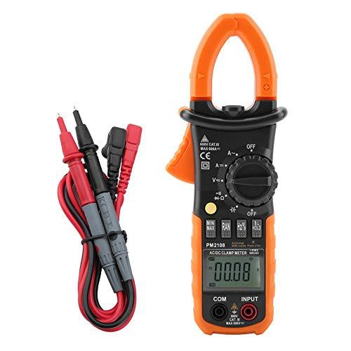 Multimetro Digitale, PEAKMETER PM2108 Pinza Amperometrica Clampometro Digitale AC   DC 6600 Conteggi Misuratore Corrente di Tensione Clamp Meter Resistenza Capacitance