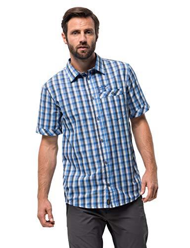 Jack Wolfskin Herren Napo River Shirt Hemd, Night Blue Checks, M