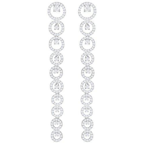 Swarovski Creativity - Pendientes perforados, color blanco