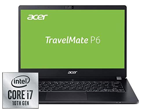Acer TravelMate P6 (TMP614-51T-G2-72ZU) 35,6 cm (14 Zoll Multi-Touch Full-HD IPS matt) Business-Laptop (Intel Core i7-10510U, 16 GB DDR4 RAM, 512 GB PCIe SSD, Intel UHD, Win 10 Pro) schwarz