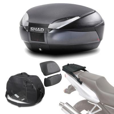 Sh48borehe44 - kit fijacion y maleta baul trasero + respaldo + bolsa interna regalo sh48 compatible...