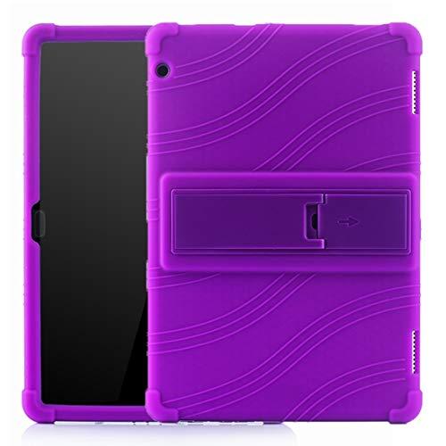 Liluyao Más Casos para Tableta Caja Protectora de la Tableta PC de Silicona con Soporte Invisible (Color : Púrpura)