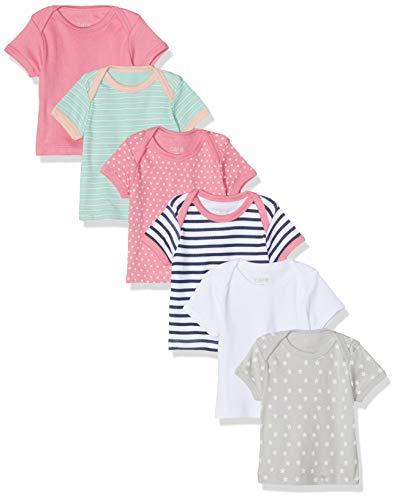 Care Baby-Mädchen T-Shirt im 6er Pack, Pink (Chateau Rose 570), Herstellergröße: 74, 6er-Pack