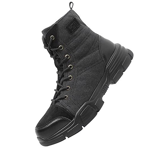 Transpirables Cómodos Zapatillas,Seguridad para Hombre con Puntera de Acero Zapatillas de Seguridad Trabajo, Calzado de Industrial y Deportiva,Black▁41