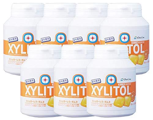 歯科専用 キシリトールガム ボトルタイプ オレンジ (約90粒) 7個セット