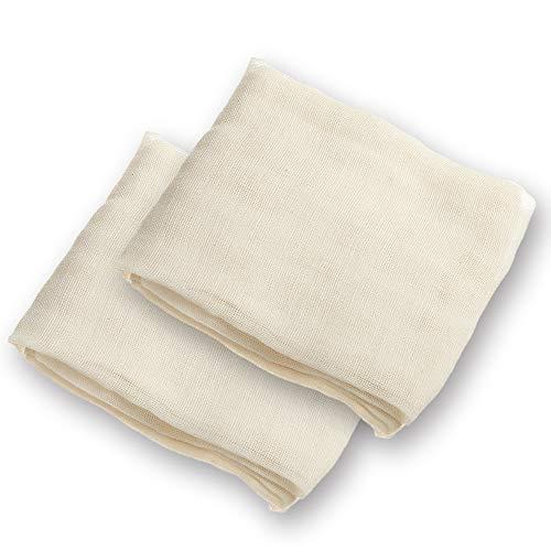 Arkham Käsetuch Passiertuch Nussmilchbeutel Natur aus 100% Baumwolle,Vielseitige Seihtuch für Filter 90x90cm(2 Stk)*