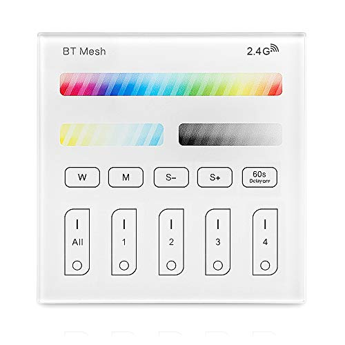 Bluetooth Mesh Smart Touch Panel Controller Powered By Batterien Fernbedienung RGB/RGBW/Warmwhite+ CCT intelligenter Schalter für LED Einbaustrahle Leiste intelligentes Gerät usw.