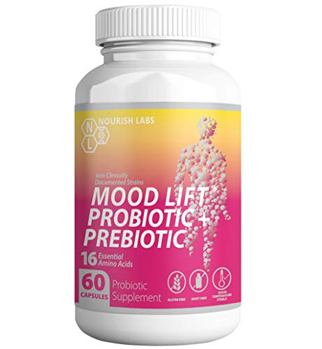 Women's Organic Prebiotics and Probiotics Supplement. Mood Boosting Probiotics in Clinically Proven Formula with Cranberry for Vaginal and Urinary Health. Vegan Non GMO.