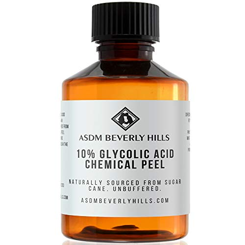 ASDM Beverly Hills Glycolic Acid 10% Chemical Peel Treatment For Unisex Adults, Clear, Unscented, 2 Ounce 60 Milliliter- 1 PC