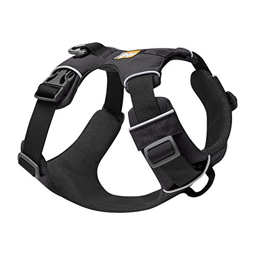 RUFFWEAR, Front Range Dog Harness, Reflective and Padded Harness for Training and Everyday, Twilight Gray, Medium