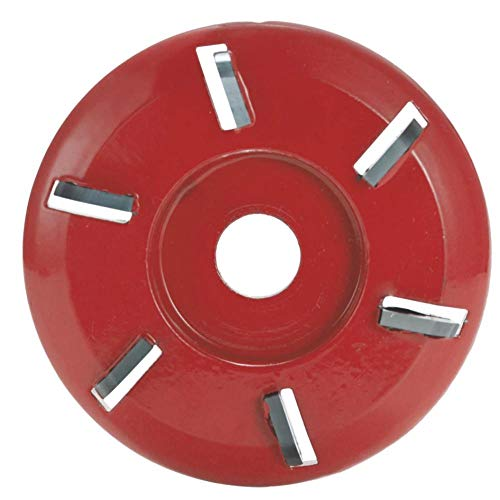 Herramienta de disco de tallado de madera de seis dientes con diente plano de arco de aleación, cortador de fresado para amoladora angular de apertura 16mm 3 uds
